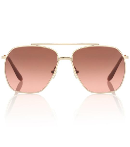 Acne Studios Anteon aviator sunglasses in gold