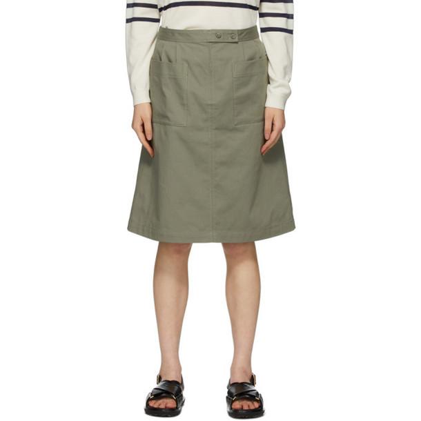 A.P.C. A.P.C. Khaki Thelma Skirt
