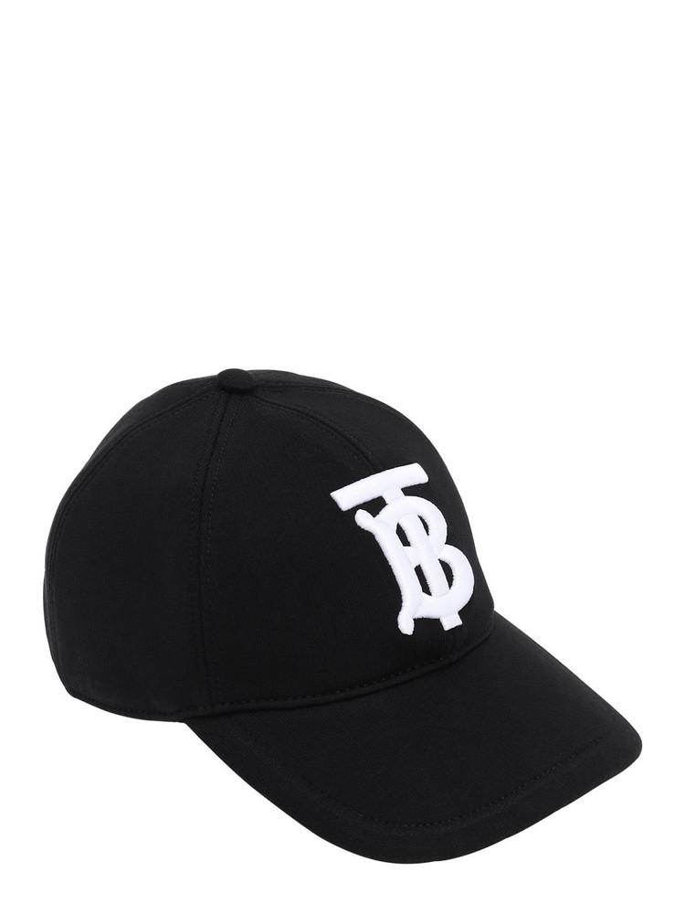 BURBERRY Embroidered Tb Baseball Hat in black