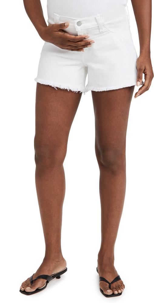 Joe's Jeans The Ozzie 4 Short Fray Hem Maternity Shorts in white