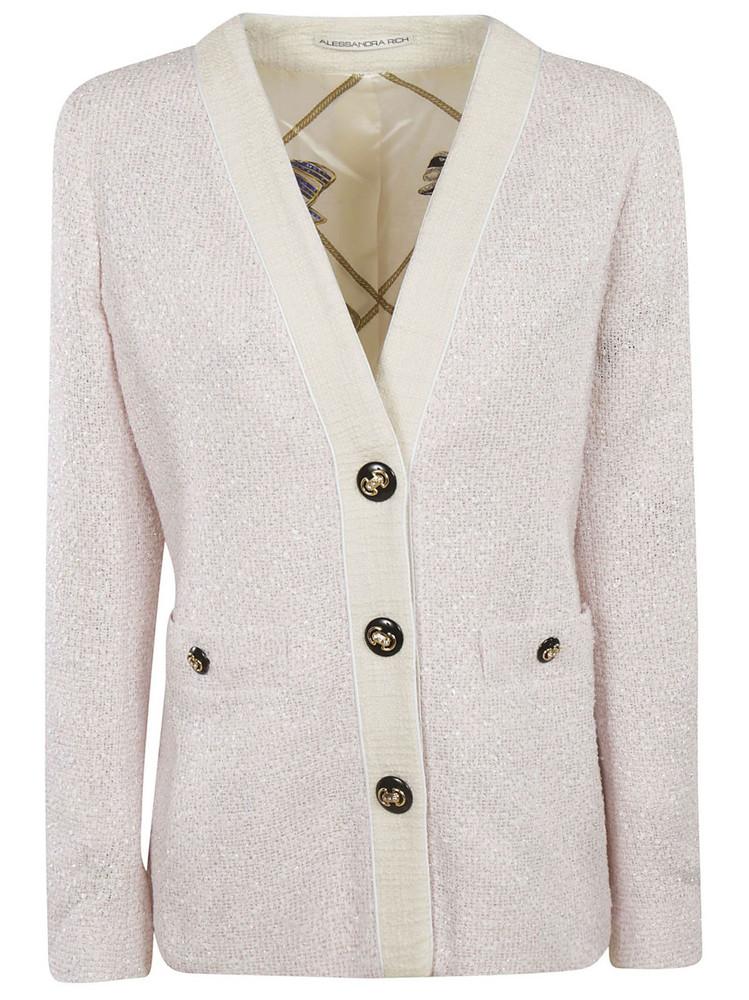 Alessandra Rich Tweed Jacket in pink