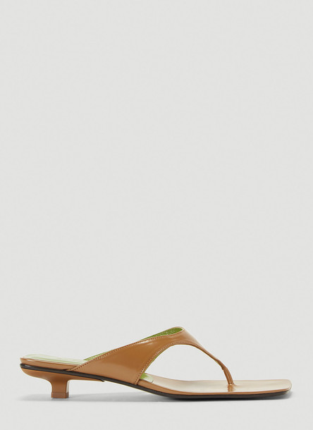 by FAR Jack Patent Leather Sandals in Brown size EU - 41