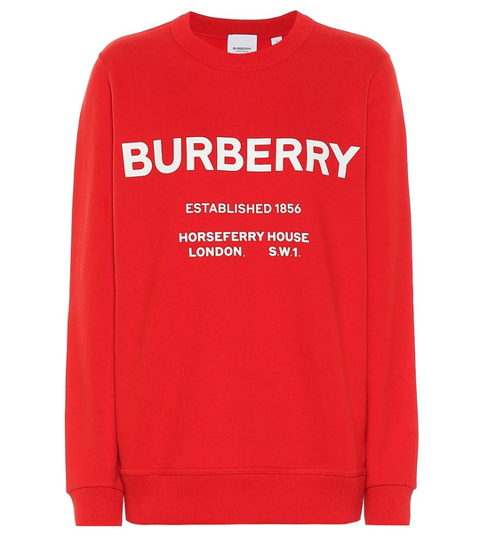 Burberry Logo cotton sweater in red