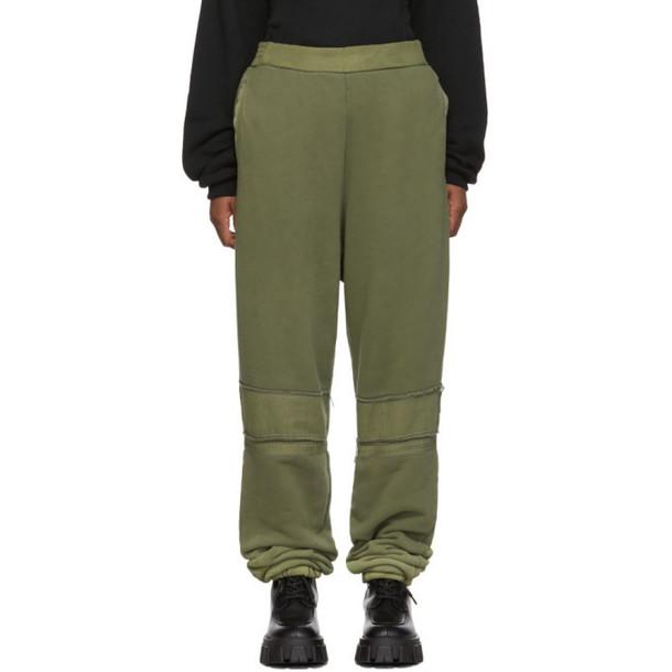 Ambush Green Bleach Patchwork Lounge Pants