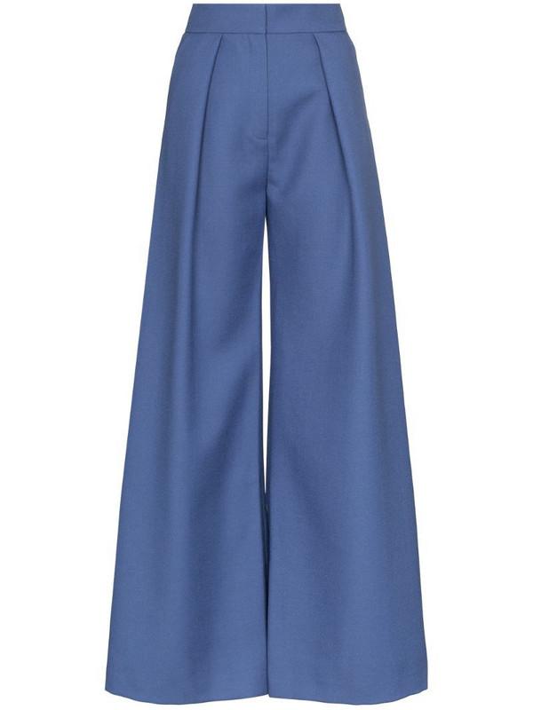 Vika Gazinskaya high-rise flared trousers in blue