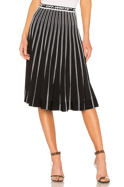 OFF-WHITE Pleated Skirt in black