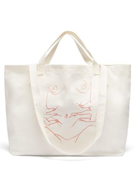 Hillier Bartley - Luella Sketch Canvas Tote - Womens - Cream