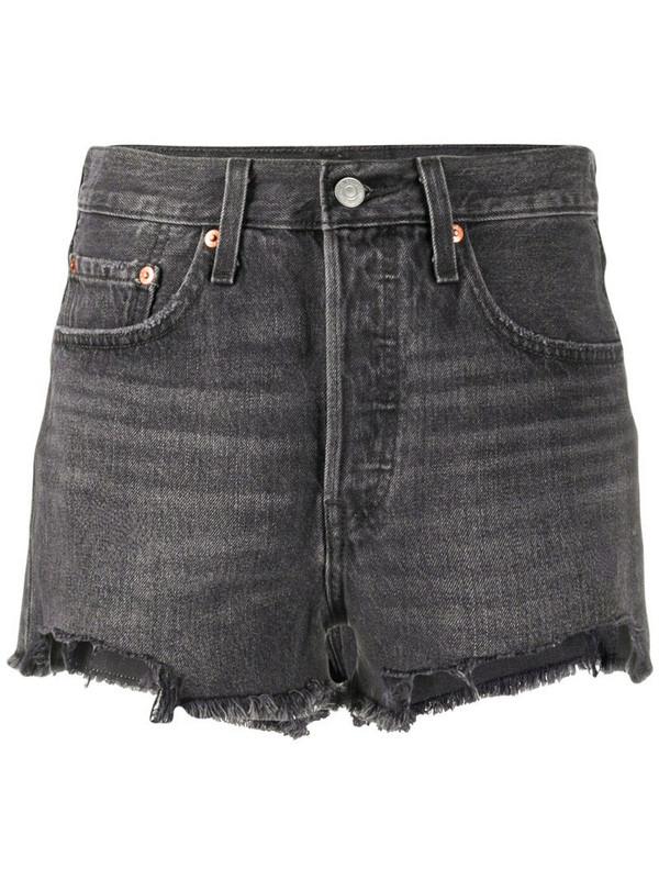 Levi's mid rise denim shorts in grey