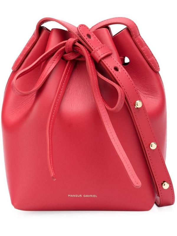 Mansur Gavriel mini Mini shoulder bag in red