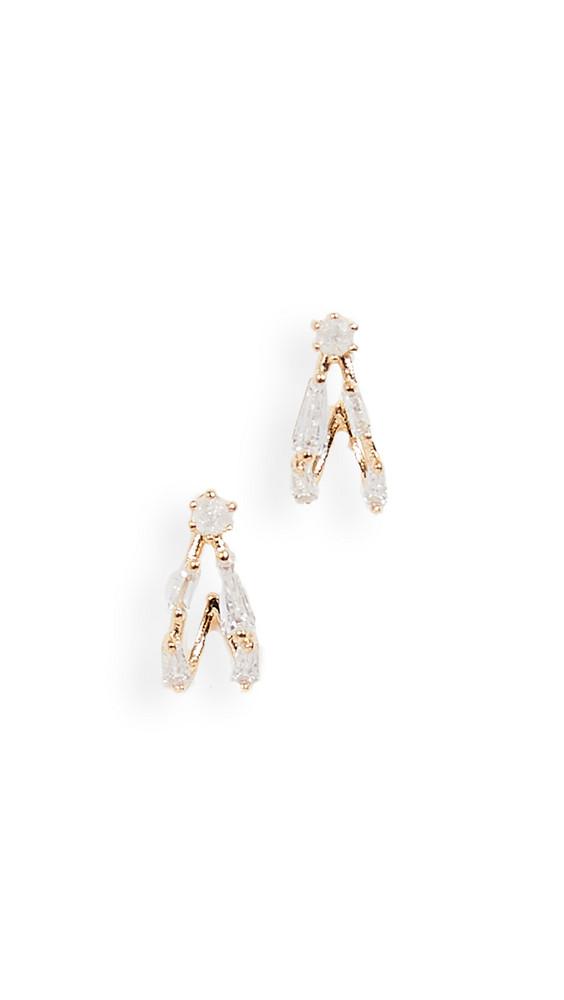 Theia Jewelry Aubrey Petite Hoop Earrings in gold