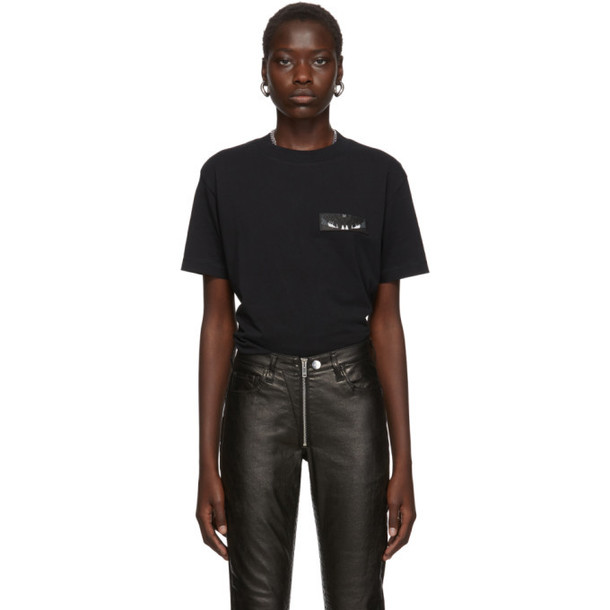 Marcelo Burlon County of Milan Black Patch Wings T-Shirt