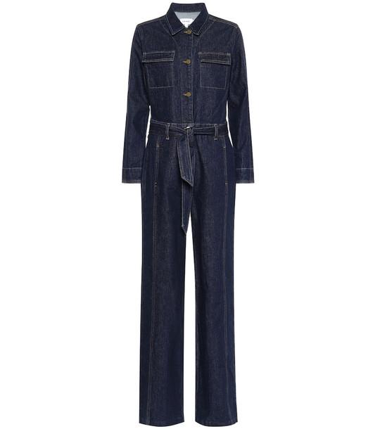 Frame Vintage denim jumpsuit in blue