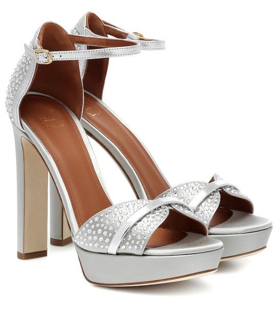 Malone Souliers Miranda embellished platform sandals in silver