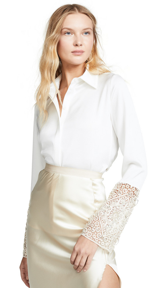 Galvan London Marrakech Blouse in white