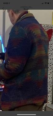 coat,multicolor,aztec