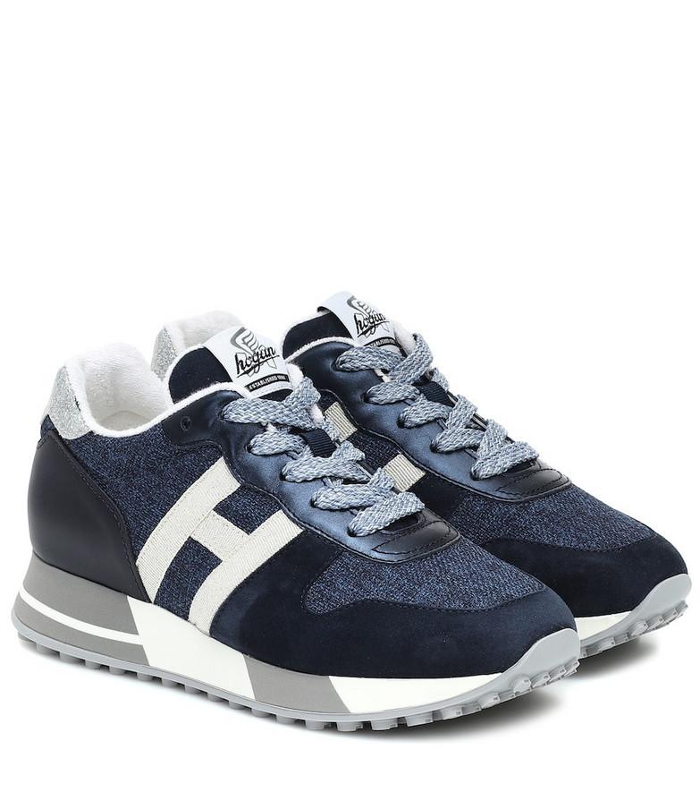 Hogan H383 tweed sneakers in blue