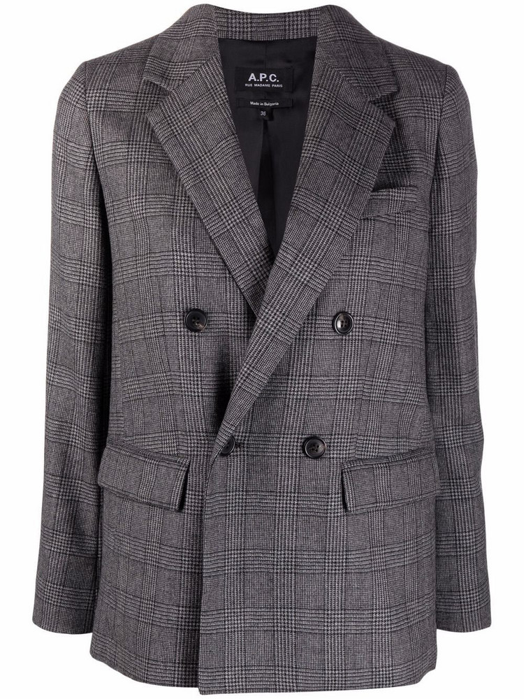 A.P.C. A.P.C. Prune double-breasted blazer - Grey