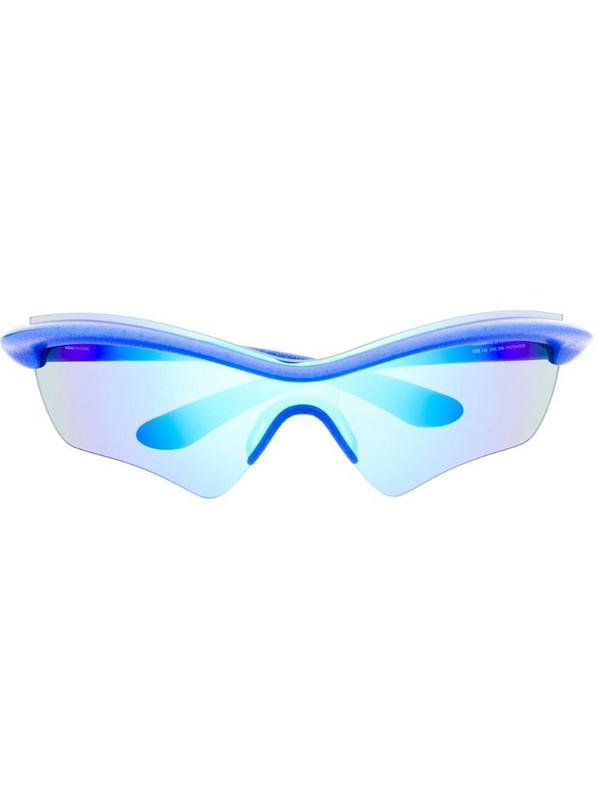 Mykita x Maison Margiela iridescent sunglasses in blue