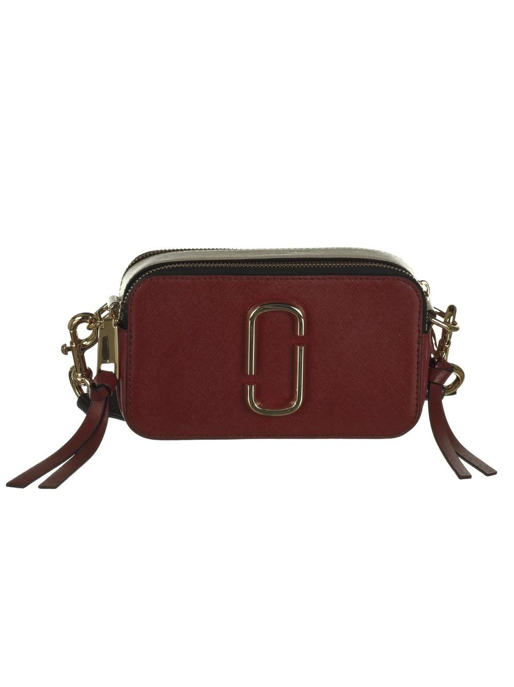 Marc Jacobs Snapshot Shoulder Bag in red / multi