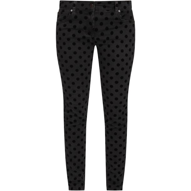 Stella McCartney Kids Grey Girl Jeans With Black Polka-dots