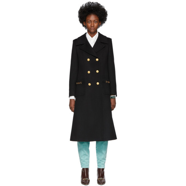 Gucci Black Wool Double-Breasted Coat