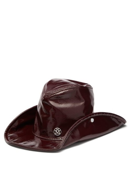 Maison Michel - Enrico High Shine Pvc Hat - Womens - Burgundy