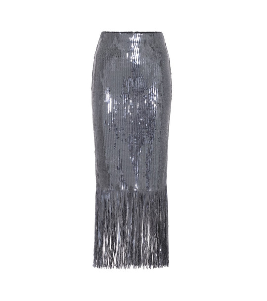 Rebecca Vallance Matisse sequined midi skirt in grey