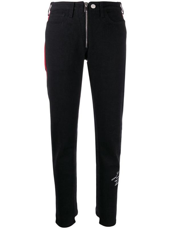 Marcelo Burlon County of Milan vintage wash slim jeans in black