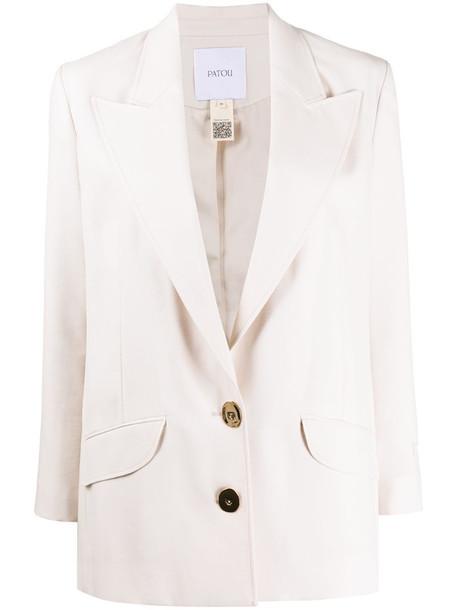 Patou single-breasted blazer in neutrals