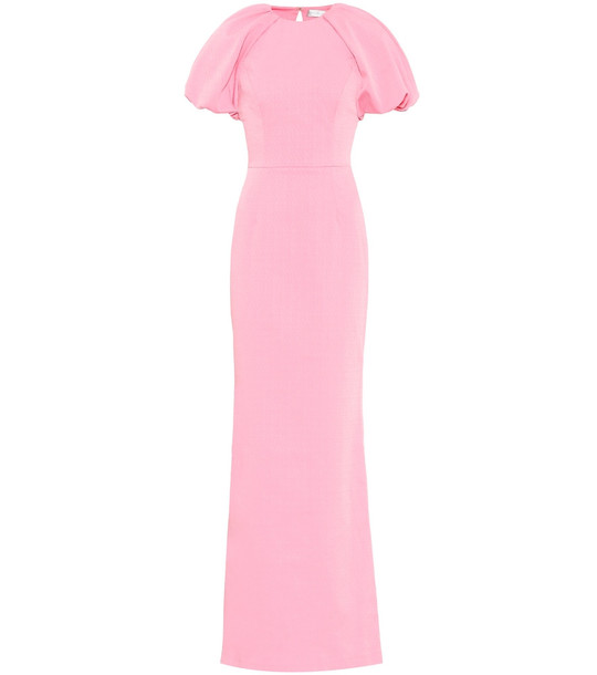 Rebecca Vallance Winslow crêpe gown in pink