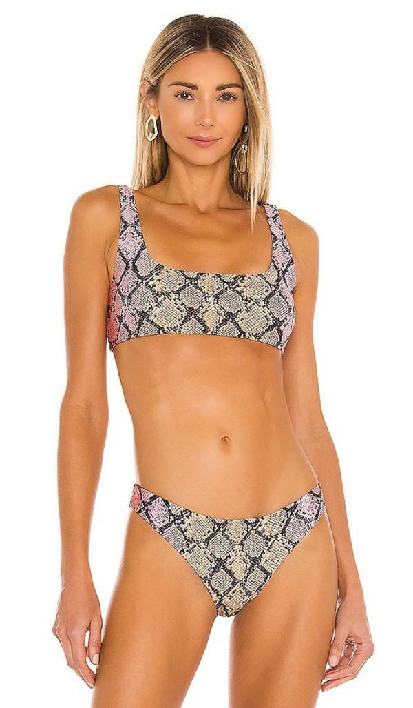Agua Bendita x REVOLVE Colleen Bikini Top in Tan,Pink in multi