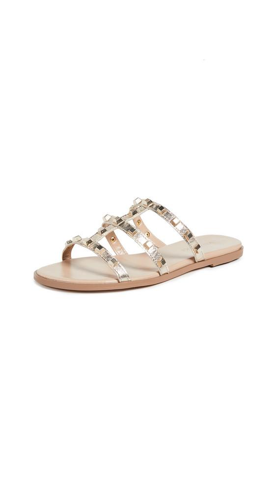 Villa Rouge Sophie Slide Sandals in gold