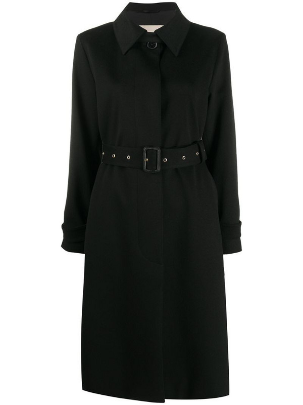 Mackintosh Roslin belted trench coat in black