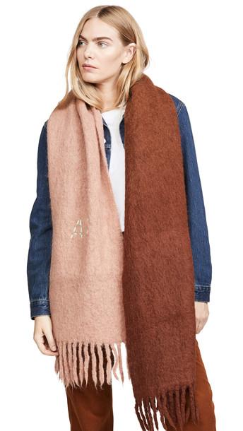 Acne Studios Kelow Dye Alpaca Scarf in brown / orange