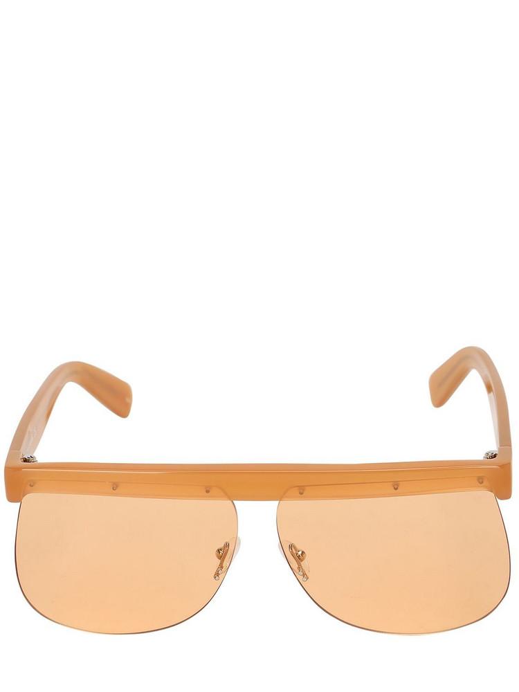 COURREGES The Mask Orange Acetate Sunglasses