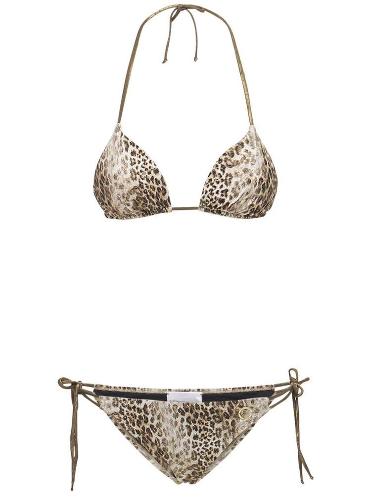 ALESSANDRO DI MARCO Printed Double String Triangle Bikini