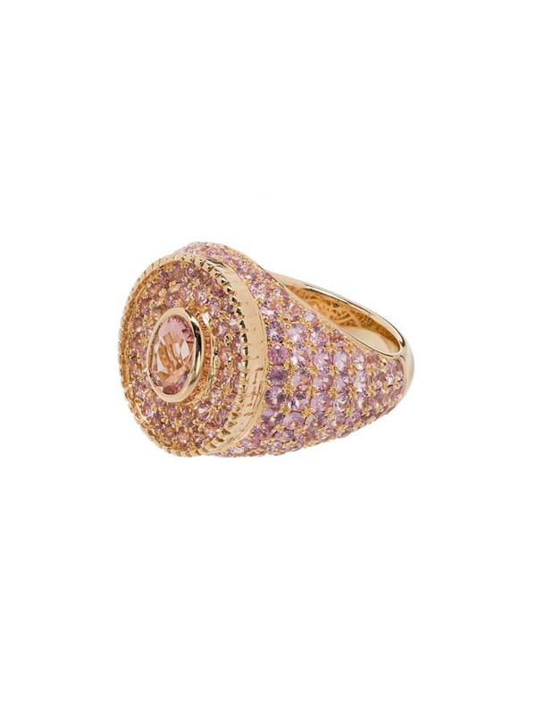 O Thongthai 14K yellow gold sapphire ring in pink