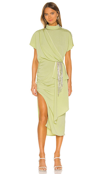MARIANNA SENCHINA Toga Dress in Mint