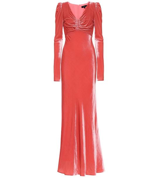 Ellery Elena velvet maxi dress in pink