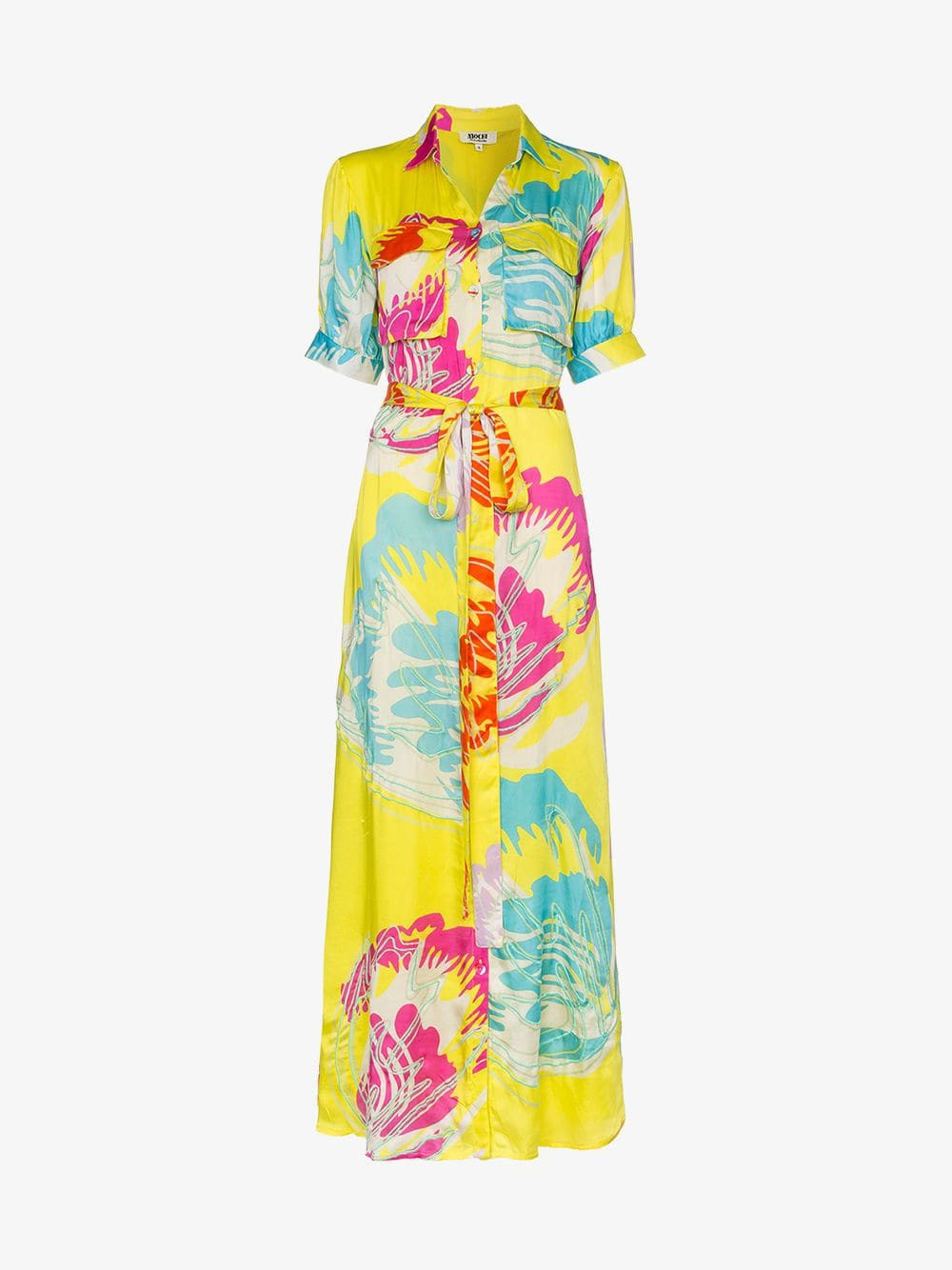 All Things Mochi Parisha collared maxi dress in yellow