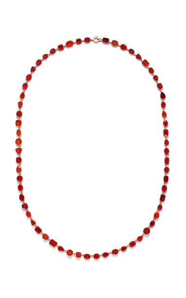 Irene Neuwirth One of a Kind Gemmy Gem Necklace in red