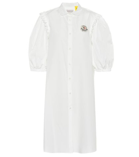 Moncler Genius 4 MONCLER SIMONE ROCHA embellished cotton dress in white