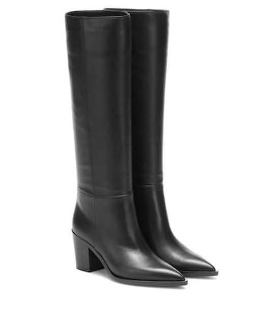 Gianvito Rossi Daenerys 70 leather boots in black
