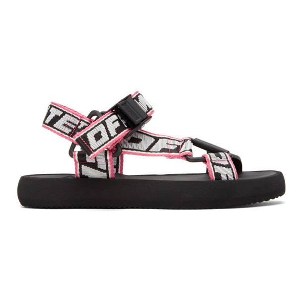 Off-White Black and White Trek Sandal