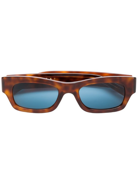 Marni Eyewear tortoiseshell rectangular frame sunglasses in brown