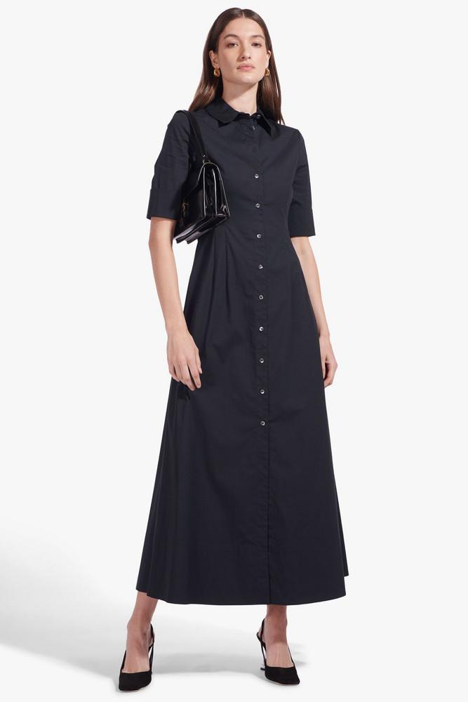 Staud JOAN MAXI DRESS   BLACK