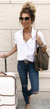 belt,bag,sunglasses,jeans,sandals