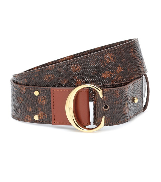 Chloé Chloé C leather belt in brown