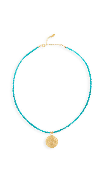Maison Irem Turquoise Coin Necklace