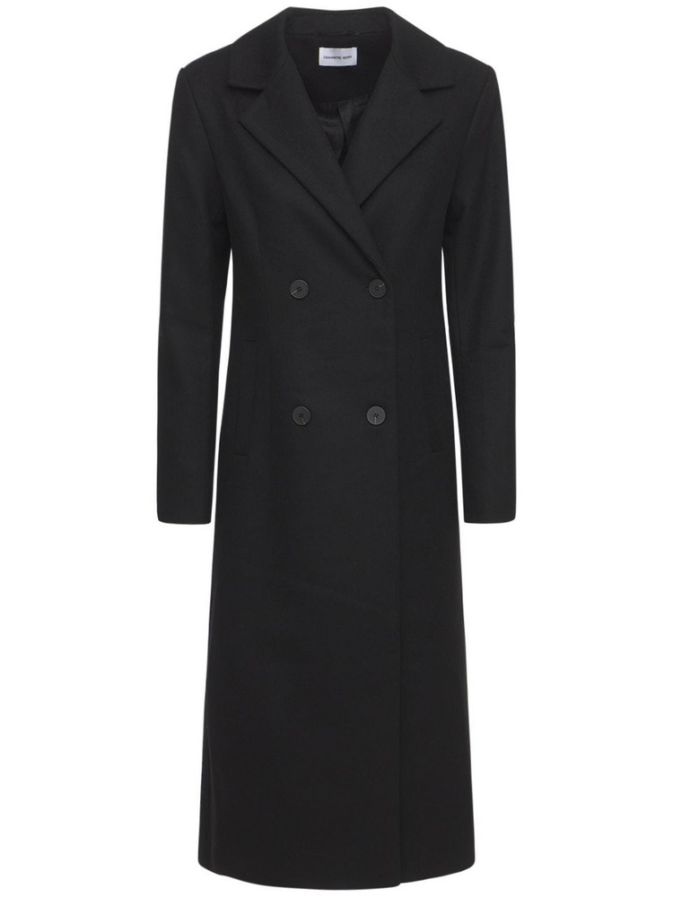 DESIGNERS REMIX Milano Recycled Wool Long Coat in black